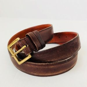 Coach Leather Vintage Mocha Men's Belt 7600